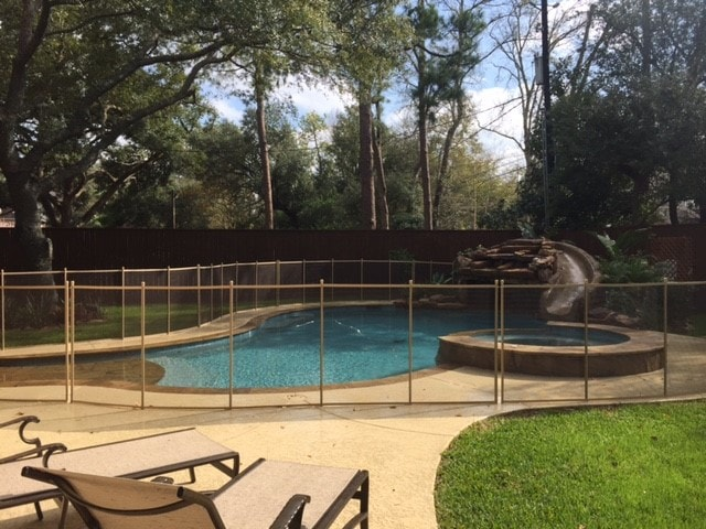 Tan Mesh Pool Fencing Pool Guard Texas